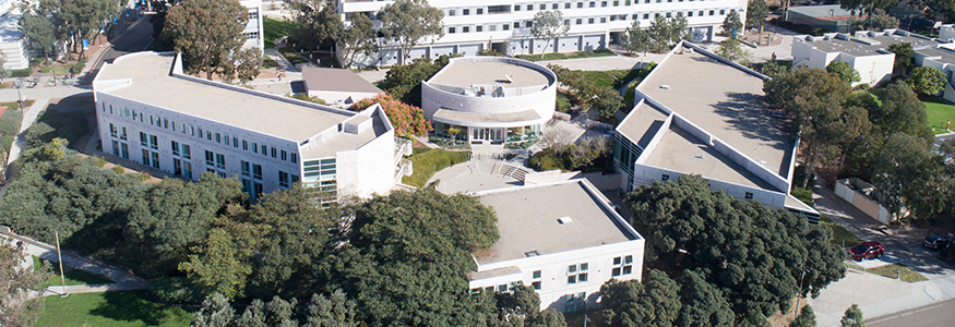 overhead view of GPS buildings